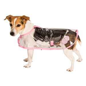 """Obleček - Pláštěnka """"Bella""""průhledná reflex růžová 32 cm"""