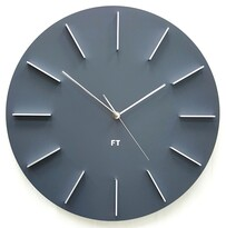 Ceas de perete design Future Time FT2010GY Round  grey, diametru 40 cm