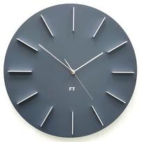 Future Time FT2010GY Round grey Designové nástěnné hodiny, pr. 40 cm