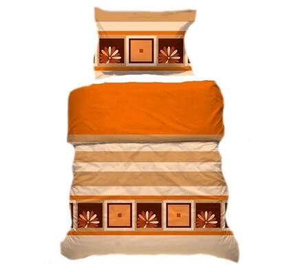 Přikrývka a polštář oranžová, 140 x 200 cm, 70 x 9, oranžová