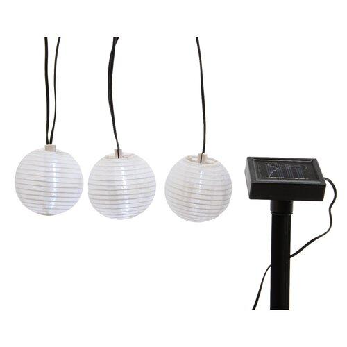 Solárna girlanda Lampióny, 10 LED