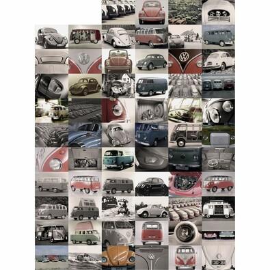 Kreatívna koláž Volkswagen, 64 dielov