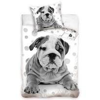 Kis Bulldog pamut ágynemű, 140 x 200 cm, 70 x 90 cm