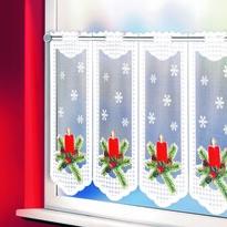 Vánoční záclona Svíčka, 45 x 120 cm