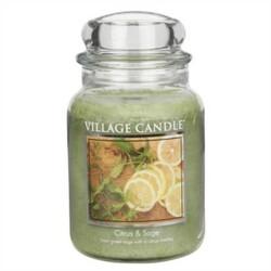 Village Candle Vonná svíčka Citrusy a šalvěj - Citrus & Sage, 645 g
