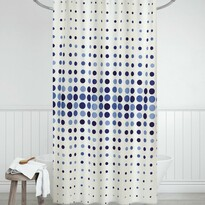 Sprchový záves Bodky modrá, 180 x 200 cm