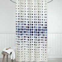 Zasłona prysznicowa Kropki niebieski, 180 x 200 cm