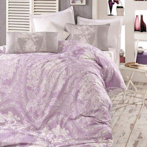 Homeville Povlečení Adeline purple bavlna, 140 x 220 cm, 70 x 90 cm