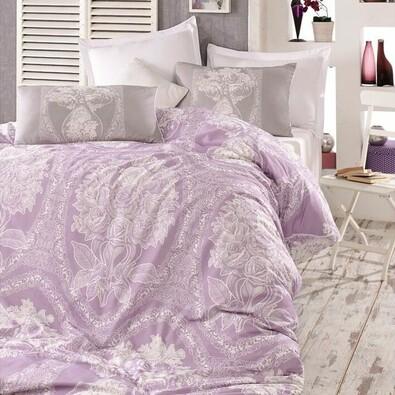 Homeville Bavlněné povlečení Adeline purple, 140 x 220 cm, 70 x 90 cm, 50 x 70 cm
