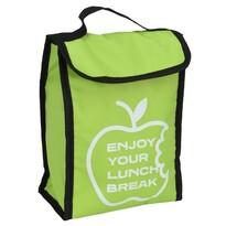 Geantă frigorifică Lunch break, verde, 24 x 18,5x 10 cm