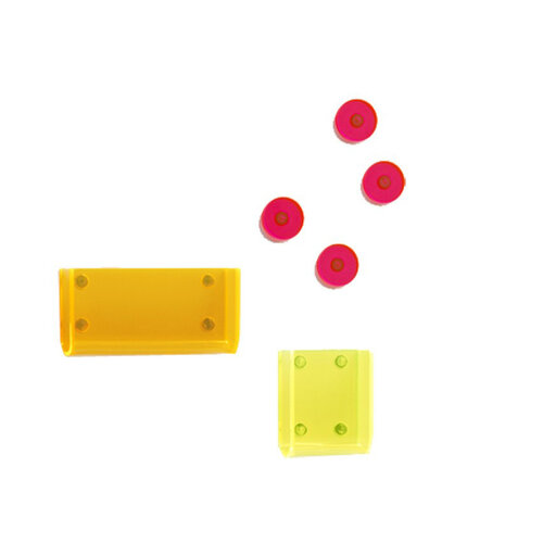 Neon Living Organizér Keywall na kľúče s magnetickou tabuľou, bielý