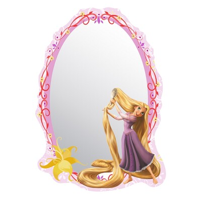 Samolepicí dětské zrcadlo Rapunzel Princezna Locika, 15 x 21,5 cm