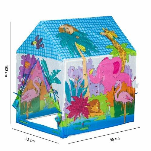 Pixino Dětský stan ZOO, 102 x 95 x 72 cm