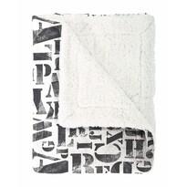 Mistral Home Koc z barankiem Alphabet czarny, 130 x 170 cm