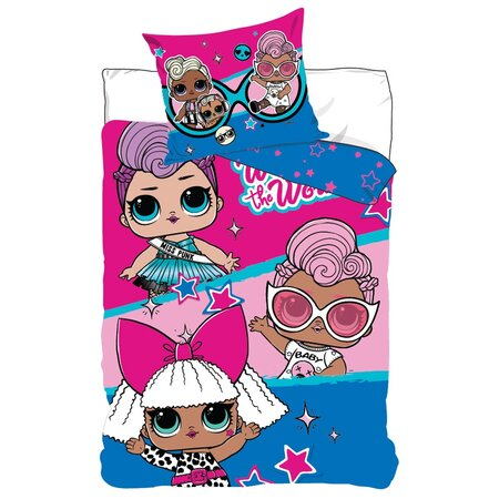 Detské bavlnené obliečky LOL Surprise Miss Punk, 140 x 200 cm, 70 x 90 cm