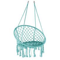 Domarex Wiszący fotel-huśtawka Luna turkusowy, 60 x 80 x 120 cm