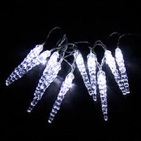 Svetelná reťaz Cencúle 12 cm, 10 LED
