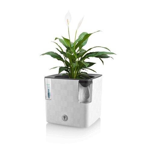 Flower Lover Chytrý květináč na bylinky Cobble bílá, 14 cm