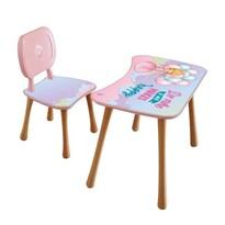 Stolik dziecięcy z krzesełkiem Dziewczynka z balonikami, 65 x 41 x 47 cm
