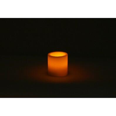 LED svícen z parafínu, oranžová