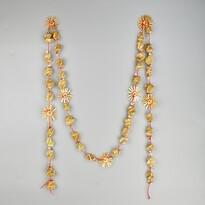 Łańcuch słomiany na choinkę Spirale, 1,8 m