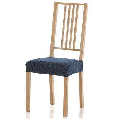 Multielastický potah na sedák na židli Petra modrá, 40 - 50 cm, sada 2 ks