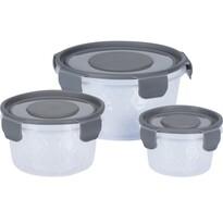 Set caserole de plastic rotunde, 3 buc