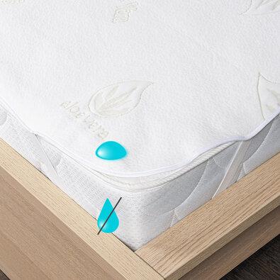 4Home Aloe Vera gumifüles vízhatlan matracvédő, 160 x 200 cm