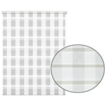 Roleta easyfix Karo podwójna biały, 60 x 150 cm