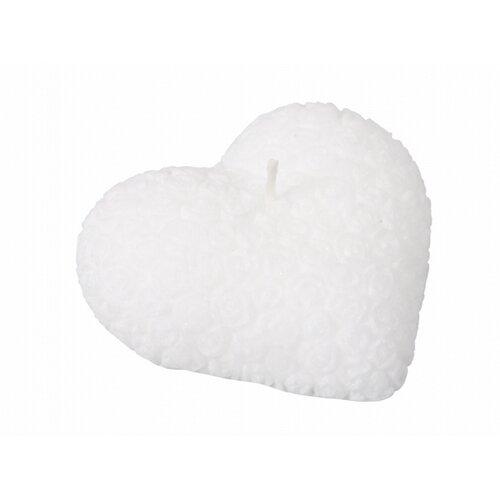 Lumânare de Sf. Valentin Inimă, albă