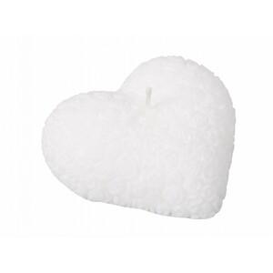 Valentýnská svíčka Srdce, bílá