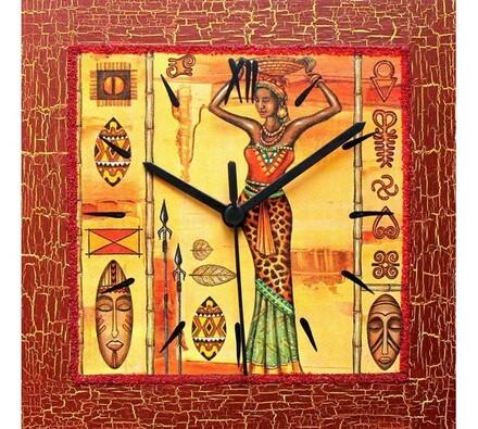 Nástěnné hodiny Afrika