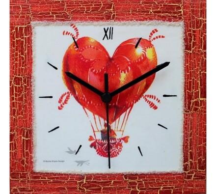Dekorativní nástěnné hodiny Balón lásky