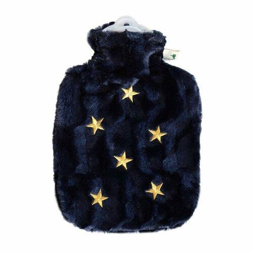 HUGO FROSCH Termofor Classic s obalom z umelej kožušiny hviezdy