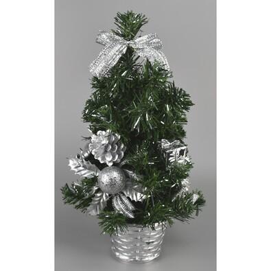 Vestire karácsonyfa, ezüst, 35 cm