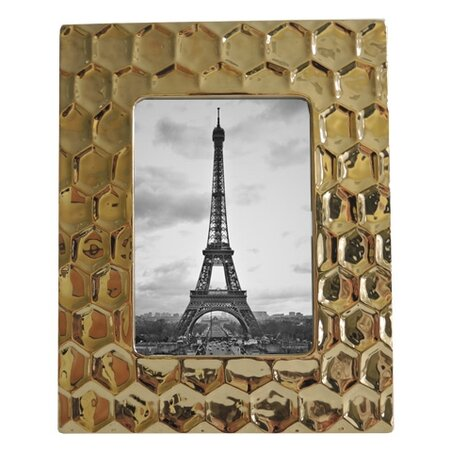 Keramický ramček zlatý, PF055