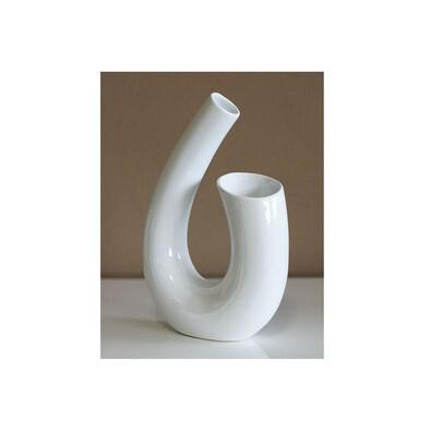 Keramická váza Elegant, biela