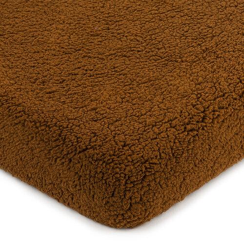 4Home gyapjú hatású lepedő sötét barna, 90 x 200 cm