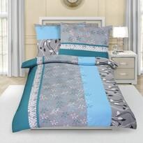 Lenjerie de pat din crep Floare turcoaz