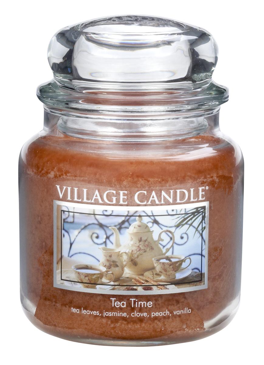 Village Candle Vonná svíčka ve skle, Čajový dýchánek - Tea Time, 397 g, 397 g