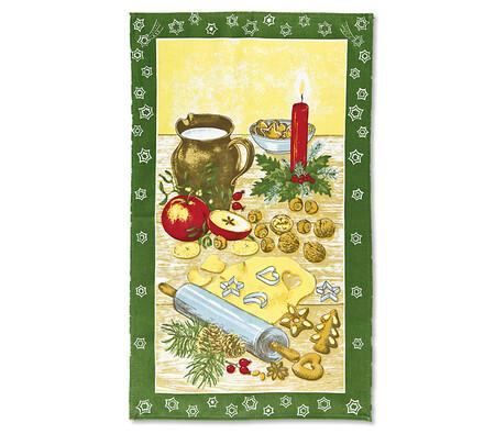 Vánoční bavlněné utěrky