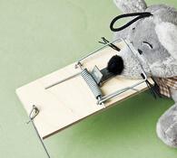 Pastičky na myši 10 x 4,5 x 0,5 cm 10 ks přírodní
