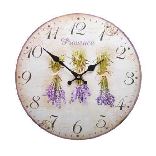 Nástenné hodiny Levanduľa HLC140064