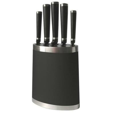 5dílná sada nožů s blokem, černá