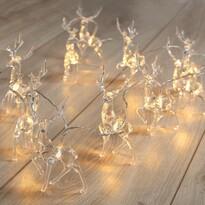 DecoKing Lampki Renifery ciepła biała, 10 LED