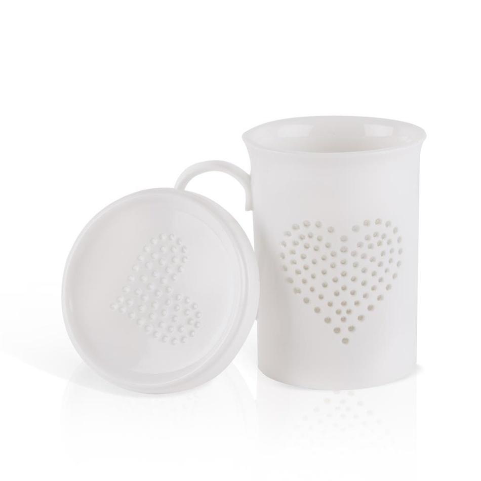 Fotografie Porcelánový hrnek s pokličkou Dakls Puro, 420 ml