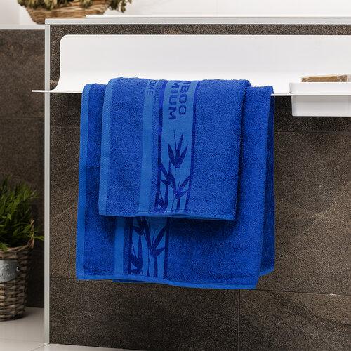 4Home Sada Bamboo Premium osuška a ručník modrá, 70 x 140 cm, 50 x 100 cm