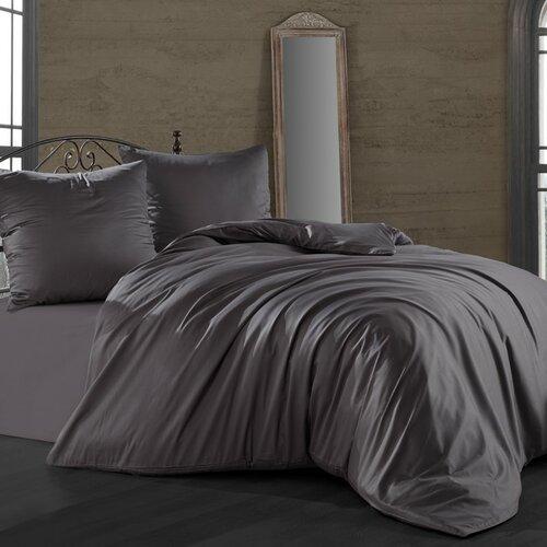 Saténové obliečky Antracitová, 140 x 220 cm, 70 x 90 cm