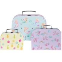Set valize pentru copii Girls choice, 3 buc.