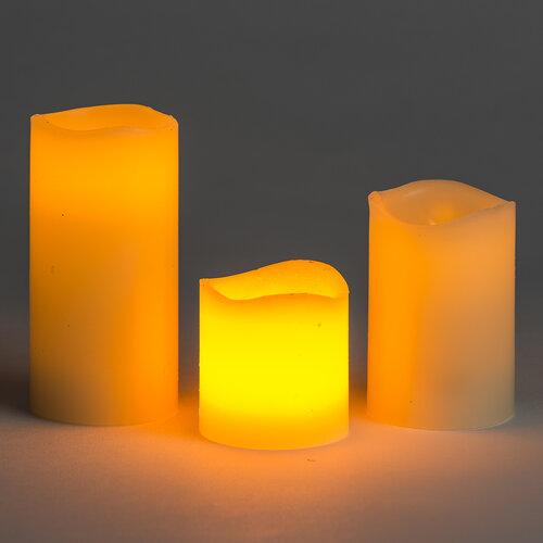 Zestaw świeczek woskowych LED, 3 szt.